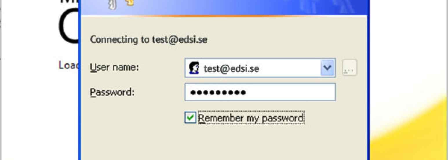 MS Outlook Password Dialog